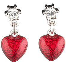 Buy Cachet London Heart Earrings, Red Online at johnlewis.com