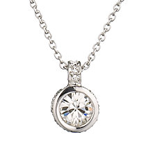 Buy Cachet London Rhodium & Swarovski Crystal Pendant Necklace, Silver Online at johnlewis.com