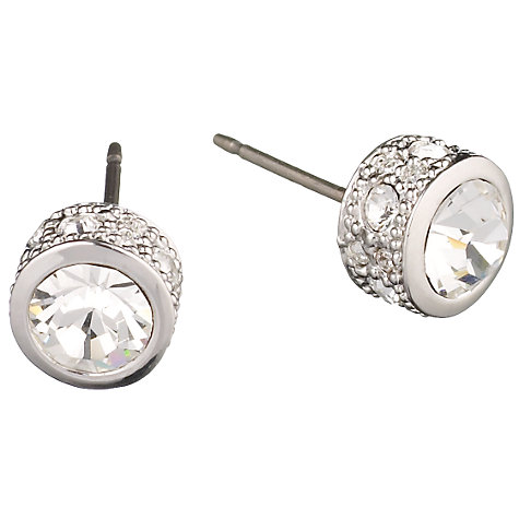 Buy Cachet London Swarovski Crystal Stud Earrings, Silver Online at johnlewis.com