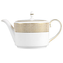 Buy Vera Wang for Wedgwood Gilded Weave Teapot, 2L Online at johnlewis.com