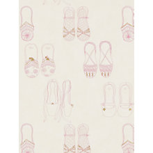 Buy Harlequin Wallpaper, Twinkle Toes 70810, Pink / Cream / Gold Online at johnlewis.com