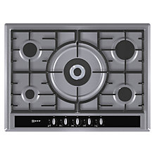 Buy Neff T26S56 Gas Hob, Stainless Steel Online at johnlewis.com