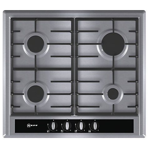 Buy Neff T23S36N0GB Gas Hob, Stainless Steel Online at johnlewis.com