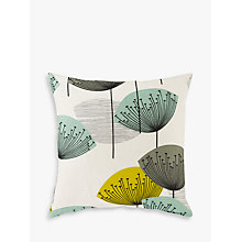 Buy Sanderson Dandelion Clocks Cushion, Aqua Online at johnlewis.com