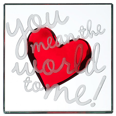 Buy Spaceform 'You Mean the World to Me' Paperweight Online at johnlewis.com