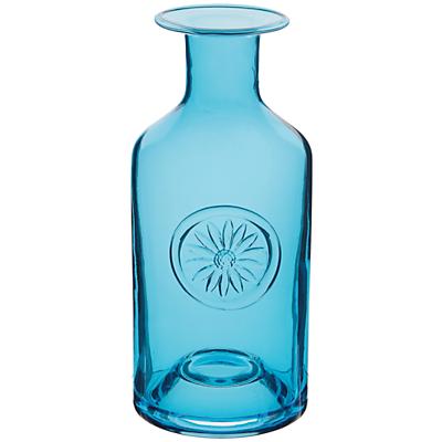 Dartington Crystal Flower Bottle Vase, Blue Daisy