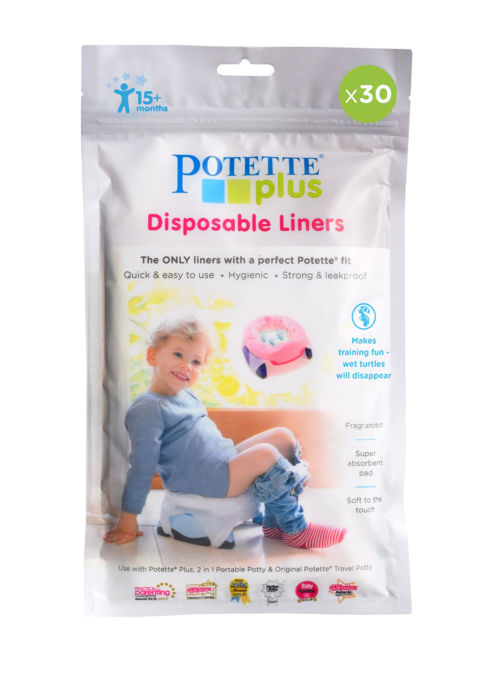 Potette Potette Plus Travel Potty Liners, Pack of 30