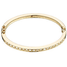Buy Cachet Rhodium and Swarovski Crystal Bangle Online at johnlewis.com