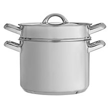 Buy John Lewis Speciality Stainless Steel Pasta Pot Online at johnlewis.com