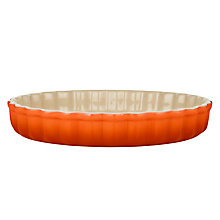 Buy Le Creuset Stoneware Fluted Flan Dish, 24cm Online at johnlewis.com