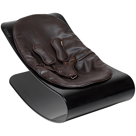 Buy bloom Coco Plexistyle Baby Lounger, Ebony Black with Assorted Colours Online at johnlewis.com
