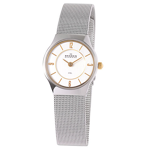 Buy Skagen 233XSGSC Women's Steel Mesh Bracelet Watch, Silver Online at johnlewis.com