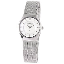 Buy Skagen 233XSSS Women's Steel Mesh Bracelet Watch, Silver Online at johnlewis.com