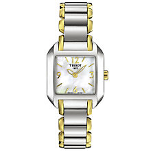 Buy Tissot T02228582 Women's T-Wave Bracelet Watch, Gold/Silver Online at johnlewis.com