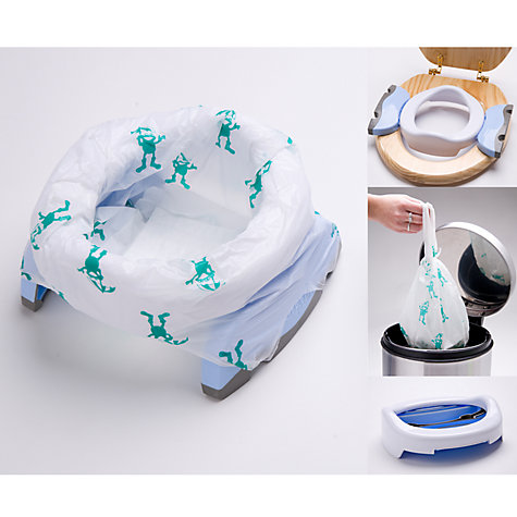 Buy Potette Plus Convertible Travel Potty, White/Blue Online at johnlewis.com