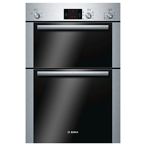 Buy Bosch HBM13B251B Double Electric Oven, Brushed Steel Online at johnlewis.com
