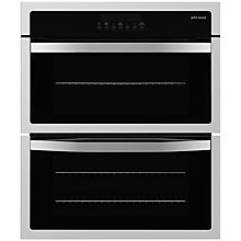 Buy John Lewis JLBIDU712 Double Built-Under Electric Oven, Stainless Steel Online at johnlewis.com