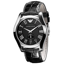 Buy Emporio Armani AR0643 Black Dial Men's Watch Online at johnlewis.com