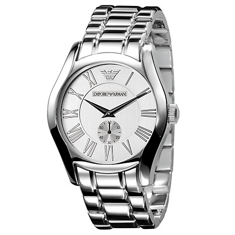 Buy Emporio Armani AR0647 Men's Stainless Steel Bracelet Watch, Silver Online at johnlewis.com