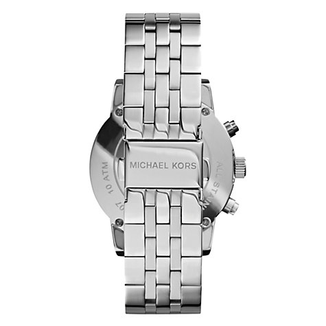 Buy Michael Kors MK5020 Women's Ritz Chronograph Stainless Steel Bracelet Strap Watch, Silver Online at johnlewis.com