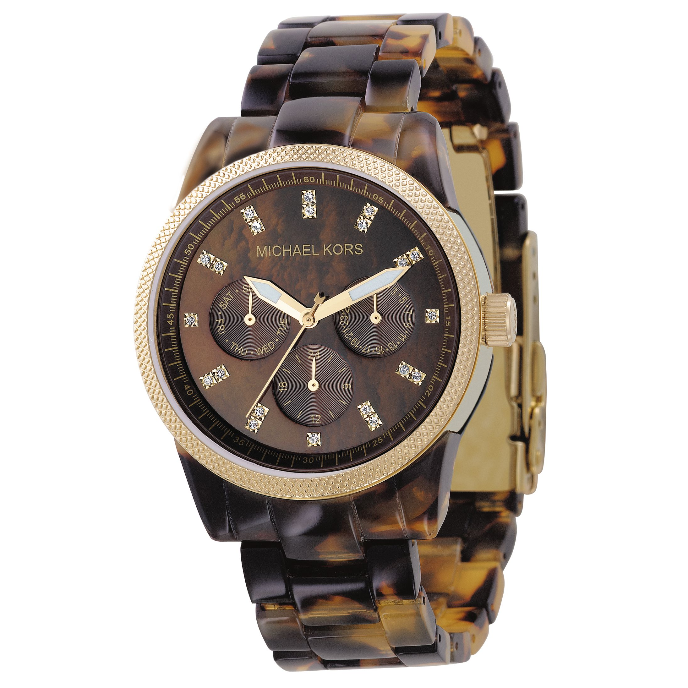 Michael Kors MK5038 Women's Chronograph Watch, Tortoiseshell