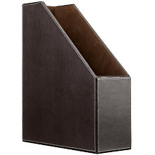 Buy John Lewis Brown Faux Leather Stitched Magazine File Online at johnlewis.com
