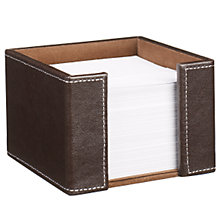 Buy John Lewis Brown Faux Leather Stitched Memo Holder Online at johnlewis.com