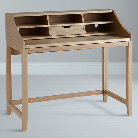 Buy John Lewis Loft Desk and Filing Cabinet, Oak Online at johnlewis.com