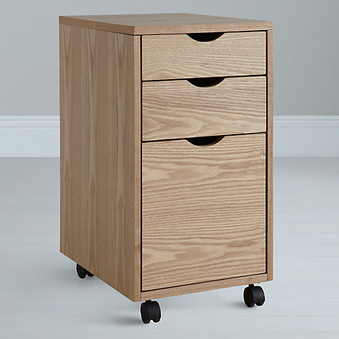 Buy John Lewis Loft Simple Desk and Filing Cabinet, Oak Online at johnlewis.com