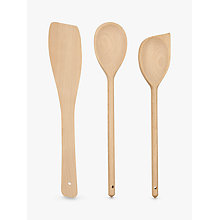 Buy John Lewis FSC Wooden Utensils, Set of 3 Online at johnlewis.com