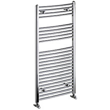 Buy Bristan Gina Curved Ladder Towel Rail / Radiator, Chrome, 100 x 60cm Online at johnlewis.com