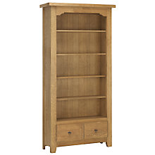 Buy John Lewis Ardennes 1 Drawer Bookcase, Cognac Online at johnlewis.com