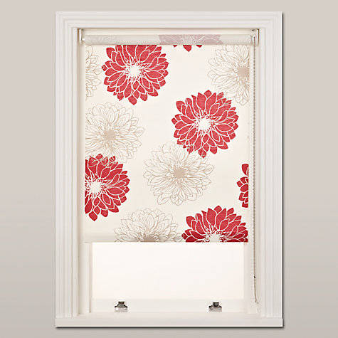 Buy John Lewis Gerbera Roller Blinds, Red Online at johnlewis.com