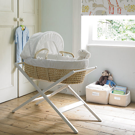 Buy John Lewis Moses Basket Stand, White Online at johnlewis.com