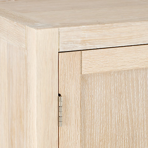 Buy John Lewis Heywood Single Towel Cupboard, Natural Online at johnlewis.com