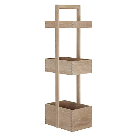 Buy John Lewis Heywood Three Tier Caddy, Natural Online at johnlewis.com