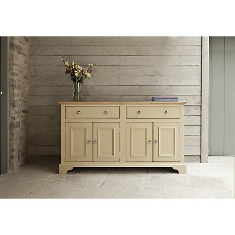 Buy Neptune Chichester 5ft 4 Door Sideboard, Limestone Online at johnlewis.com