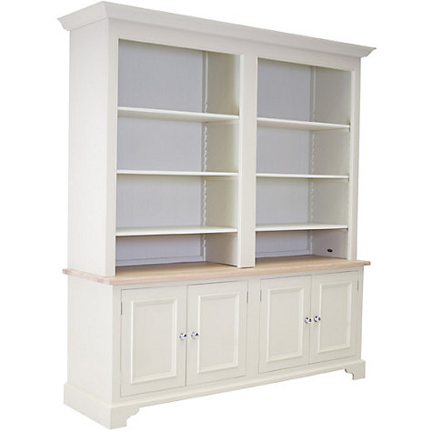 Buy Neptune Chichester Grand Bookcase, Limestone Online at johnlewis.com