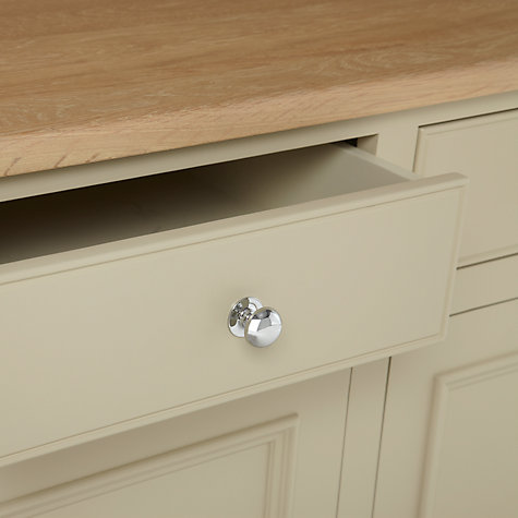 "Buy Neptune Chichester 3ft 6"" Open Rack Dresser, Limestone Online at johnlewis.com"