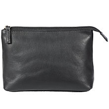 Buy John Lewis Small Leather Cosmetics Purse, Black Online at johnlewis.com