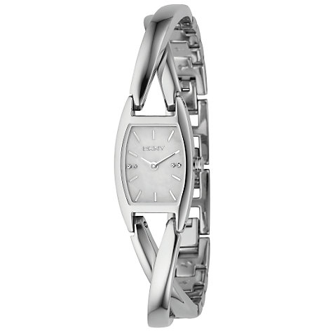 Buy DKNY NY4631 Women's Crossover Bracelet Watch, Silver Online at johnlewis.com
