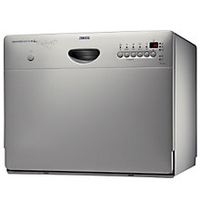 Buy Zanussi ZSF2450S Compact Dishwasher, Silver Online at johnlewis.com