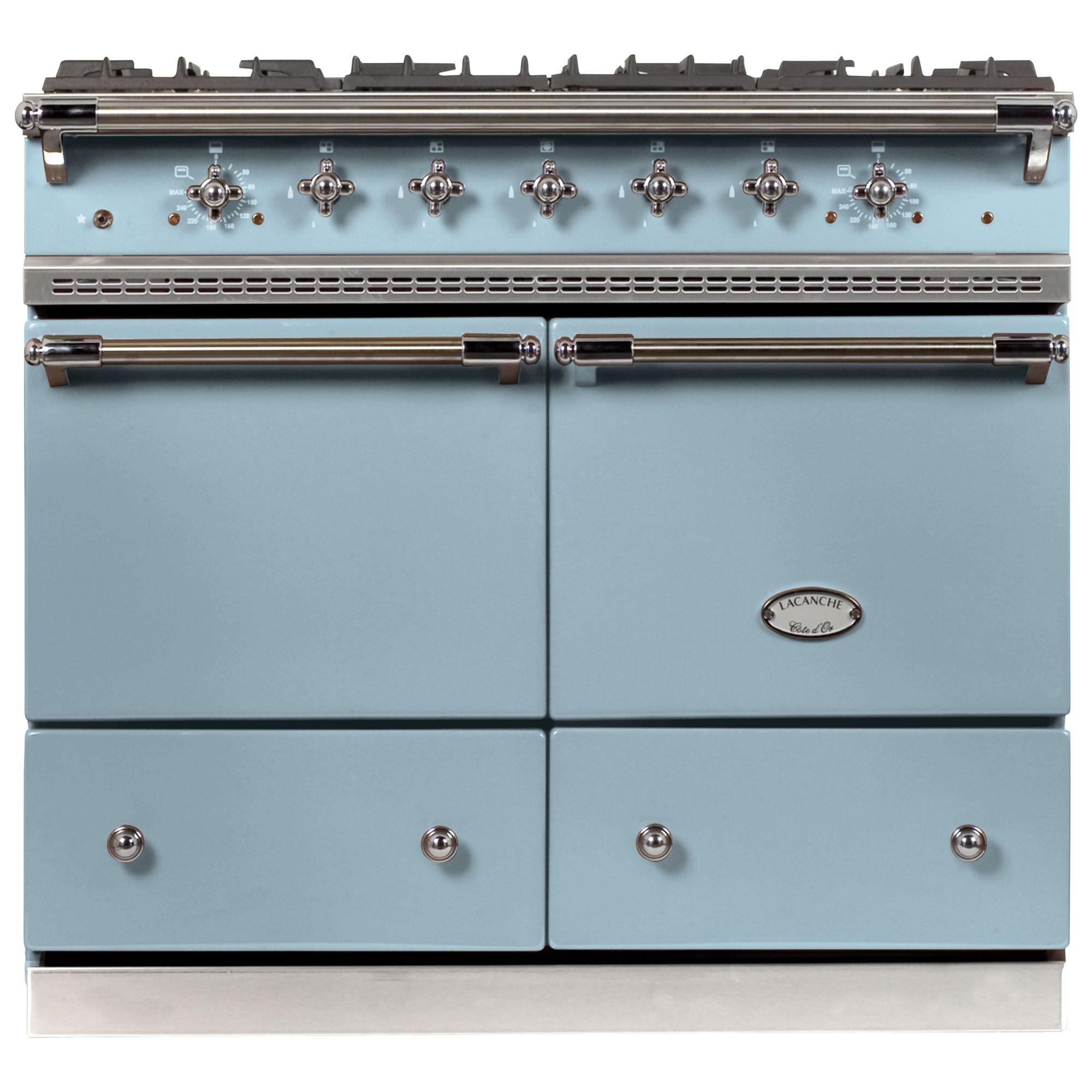 Lacanche Lacanche Cluny LG1052GCT Dual Fuel Range Cooker, Delft Blue / Chrome Trim