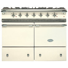 Buy Lacanche Cluny LG1052GCT Dual Fuel Range Cooker, Ivory / Chrome Trim Online at johnlewis.com