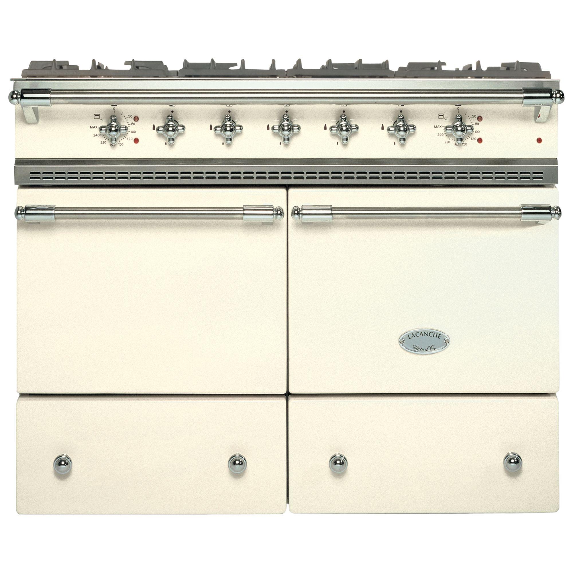 Lacanche Lacanche Cluny LG1052GCT Dual Fuel Range Cooker, Ivory / Chrome Trim