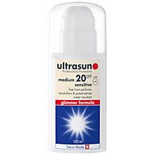 Buy Ultrasun Protection SPF 20 Sensitive, 100ml Online at johnlewis.com