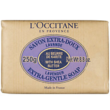 Buy L'Occitane Lavender Shea Butter Extra Gentle Soap, 250g Online at johnlewis.com