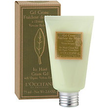 Buy L'Occitane Verbena Ice Hand Cream Gel, 75ml Online at johnlewis.com