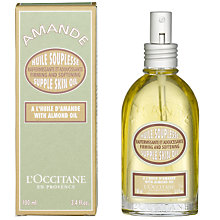 Buy L'Occitane Supple Almond Skin Oil, 100ml Online at johnlewis.com