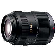 Buy Panasonic H-FS045200E 45-200mm f4.0-5.6 ASPH Mega O.I.S Telephoto Zoom Lens Online at johnlewis.com